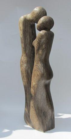 Escultura de 30 cm corazón Suar madera a mano figura decorativa madera personaje de arte
