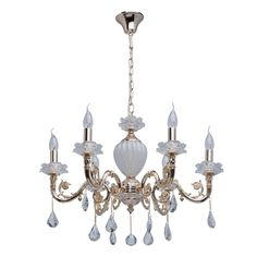 Klassischer Kerzen Kronleuchter Kristall 6-flammig MW-Light 482012706