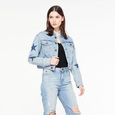 Veste Courte En Jeans À Étoiles - Blousons & Vestes - Sandro-paris.com