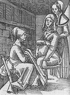 Medieval fire rituals, Tudor birthing chairs, smoking to relax and drinking Guinness to increase mums' iron: The evolution of childbirth revealed German Costume, Landsknecht, Vintage Medical, Framed Prints, Canvas Prints, Portraits, 16th Century, Middle Ages, Photo Greeting Cards