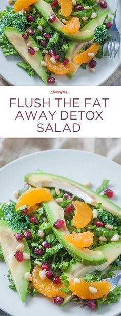 Restock your body with badly needed nutrients with our Flush The Fat Away Detox Salad! #Detoxsalad