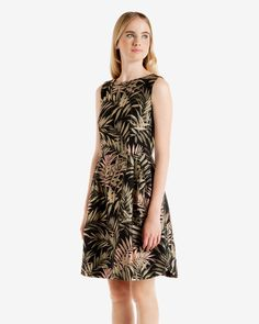 LOURYN Palm Jacquard dress