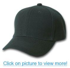 Plain Men's Baseball Hat with Adjustable Velcro