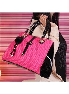 New Arrival Fashion  Vintage Grid Female Handle Bag