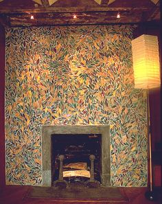 Leaf Tile Fireplace by Christopher Russell