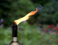 Weinflaschen-Öllampe