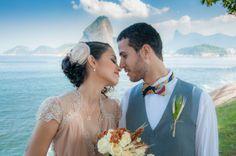 Casamento vintage em um domingo de manhã com vista para o Rio de Janeiro: a combinação perfeita de Gabi e Pedro