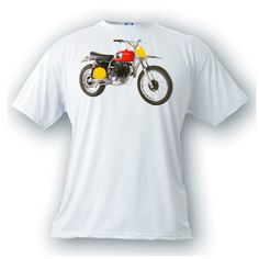 your vintage motocross printed on a shirt. artonstuff@gmail.com