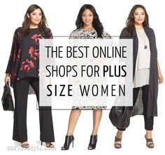 The best online stores and brands for plus size women – Do you have a favorite, let me know! | 40+ Style - How to look and feel great over 40! | Bloglovin'