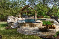 Beach Entry Pool & Large Outdoor Kitchen - traditional - Pool - Other Metro - Keith Zars Pools