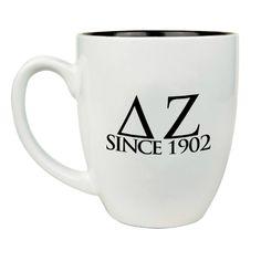 Delta Zeta Greek Bistro Mug GreekGear.com