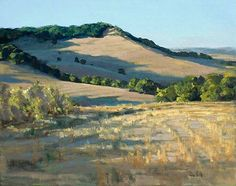 Robin Hall: A great painting. It makes you want to go inside it and walk those hillsides. Note by Roger Carrier