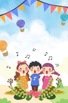 Children S Day Cartoon Childlike Propaganda Poster Balloon Background, Background Images, Happy Cartoon, Cartoon Kids, Festival Posters, Art Festival, Drawing For Kids, Art For Kids, Plan Image
