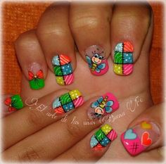 El arte de las uñas buena fe Nail Polish Designs, Cute Nail Designs, Spring Nails, Summer Nails, Cute Nails, My Nails, Finger, Nails For Kids, Hair Skin Nails