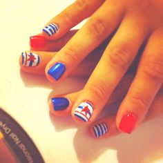 Fourth of July nails! Simple