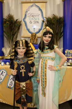 """Celebrate your little """"jewel of the Nile"""" with a gorgeous Egyptian spa party, complete with a pyramid cake, mummy manicures and Cleopatra costumes!"""