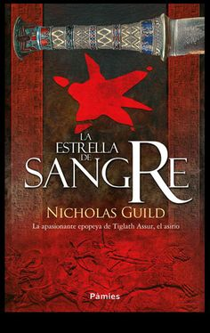 Diseño e ilustración que he realizado para la cubierta de la novela histórica La estrella de sangre de Nicholas Guild editada en septiembre de 2014 por Ediciones Pàmies
