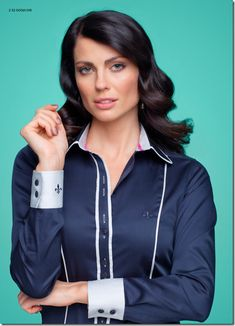 camisas dudalina feminina - Buscar con Google Satin Shirt, Chiffon Shirt, Corsage, Suits For Women, Blouses For Women, Kurta Style, Pretty Shirts, Satin Blouses, Work Shirts