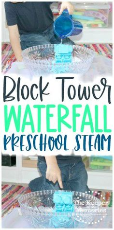 This Island Theme Water Block Tower Investigation Station is a great way to encourage creative thinking, problem solving and scientific inquiry with your little kids. Don't forget to add it to your next water or island theme! #preschool #island #water #physics #waterfall #preschoolactivities #wateractivities #physicsactivities Sensory Activities Toddlers, Preschool Themes, Kids Learning Activities, Preschool Kindergarten, Toddler Preschool, Toddler Art Projects, Craft Projects For Kids, Diy Projects, Diy Crafts For Kids Easy