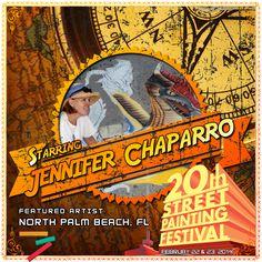 Jennifer Nichols Chaparro  http://streetpaintingfestivalinc.org/index.php/artists/featured-artists/32-jennifer-chaparro