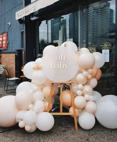 Balloons and welcome sign - - stunning! Balloons and welcome sign - - 842384305284372784 OH BABY. Loving this neutral blush and grey colour combo 💕 Lovely working with you Stephanie! Balloons Props and… Gold royal baby blue white baby prince crown bap Fotos Baby Shower, Deco Baby Shower, Baby Shower Balloons, Girl Shower, Shower Party, Baby Shower Parties, Baby Shower Themes, Baby Shower Outfits, Unisex Baby Shower