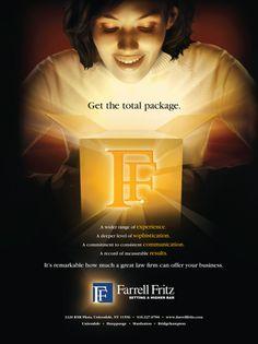 Cameron developed Farrell Fritz's branding advertising campaign