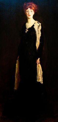 Lady in Black by Robert Henri *************http://www.pinterest.com/pin/311241024221011721/