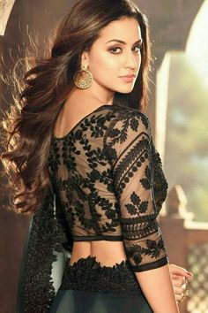 Did you know that a black blouse can go well with any saree? In this article, we have listed some of the best Black Blouse designs, which are suitable for different occasions. Indian Blouse Designs, Black Blouse Designs, Netted Blouse Designs, Blouse Neck Designs, Blouse Styles, Kitenge, Cheongsam, Kaftan, Net Blouses