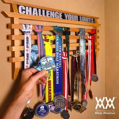 Display rack for running medals or another awards. Video and free plans!