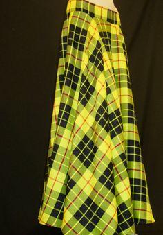 Full Circle MacLeod of Lewis Tartan Skirt 1950s by SOHOSKIRTS