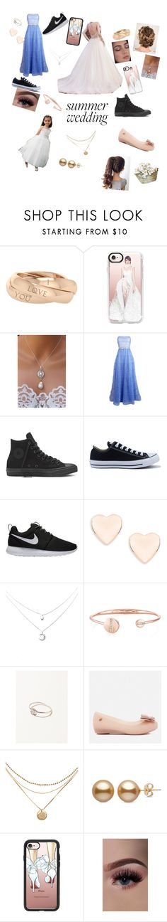 """Summer wedding"" by themasterdesigner ❤ liked on Polyvore featuring StyleRocks, Casetify, Maggie Sottero, Plakinger, Converse, NIKE, Ted Baker and Melissa"