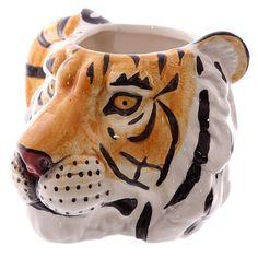 Novelty Tiger Head Shaped Ceramic Mug  http://ift.tt/1MDBO1J