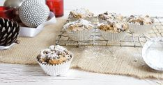 These 3 ingredient fruit cakes are based on a 4 ingredient Christmas cake and have been a hit every year I make it. They are egg free, dairy free cakes and can be gluten free too if gluten-free flour is used. Mini Christmas Cakes, Christmas Deserts, Christmas Treats, Christmas Recipes, Xmas Cakes, Christmas Parties, Christmas Goodies, Christmas Stuff, Xmas Food