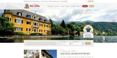 Webdesign für das Schloßhotel See-Villa am Millstätter See. Web Design, Villa, Das Hotel, Desktop Screenshot, Web Design Projects, Recovery, Design Web, Fork, Website Designs