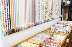Visual Merchandising. East Side Tokyo. Fantastic craft shop in Yokohama.