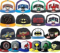 Funko POP DC Marvel Comics Books Heroes Adjustable Snapback Hats Cap Flat Brim