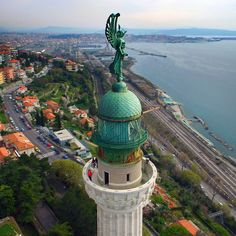 the vittoria lighthouse trieste Trieste, Elba, Amalfi, Palermo, Verona, Places Around The World, Around The Worlds, Hvar Croatia, Ancient Ruins