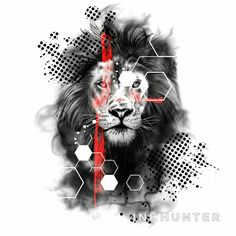 Design by Trash Polka by Bunette - Tattoo MAG Lion Tattoo Sleeves, Tribal Sleeve Tattoos, Tattoo Sleeve Designs, Trash Polka Tattoos, Tattoo Trash, Wolf Tattoo Forearm, Forearm Tattoo Design, Lion Tattoo Design, Fairy Tattoo Designs