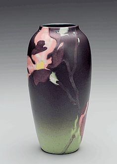 Rookwood Pottery (1880–1967), decorated by Harriet E. Wilcox (active at Rookwood 1886–1907),   vase, Cincinnati, OH, 1901.