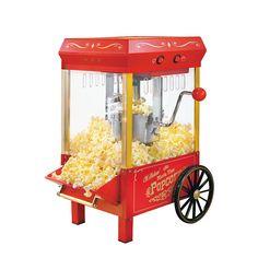 Nostalgia Electrics Vintage Collection Kettle Popcorn Maker, Red