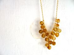Recycled Glass Bead Cascading Bib Necklace by donidoni on Etsy, $55.00