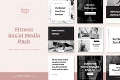 Fitness Instagram Template by January Made Design on @creativemarket