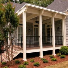 Front Porch Design Ideas front porch design and deck pictures i like the look of the skirt so Front Porch Railing Design Ideas
