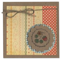1007-Homemade  Just For You card