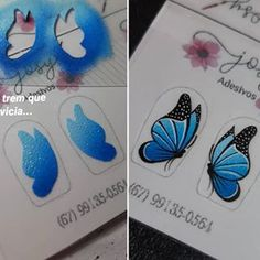 𝑱𝒐𝒔𝒚 𝑨𝒅𝒆𝒔𝒊𝒗𝒐𝒔🖌 (@josymartinsadesivos) • Fotos e vídeos do Instagram Butterfly Nail Art, Pedicure, Nails, Manicures, Stickers, 3d, Instagram, Nail Jewels, Finger Nail Painting