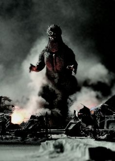 Godzilla. My Christopher would love this.