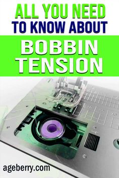 Looking for a sewing tutorial on adjusting a bobbin tension? In this guide on how to adjust bobbin tension I want to tell you everything I know about fixing sewing machine bobbin tension problems. I will answer the following questions: what is the bobbin tension, how to change the bobbin tension settings on a sewing machine, bobbin tension troubleshooting, how do you check bobbin tension, how to adjust it. Learn to fix the bobbin tension for all your beginner sewing projects. Sewing For Beginners Diy, Sewing For Dummies, Sewing Basics, Easy Sewing Patterns, Sewing Tutorials, Sewing Machine Tension, Charts, Grid, Learning