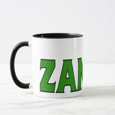 Shop Zambia Coffee Mug created by worldbanners. Zambia Flag, Africa Flag, National Flag, Flag Design, Flags, Custom Shirts, Favorite Color, Dinnerware, Coffee Mugs