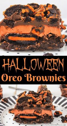 Halloween Brownies, Dessert Halloween, Halloween Fruit, Halloween Food For Party, Halloween Cupcakes, Halloween Recipe, Halloween City, Halloween Costumes, Halloween College