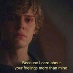 Evan Peters as Tate Langdon in the first season of American Horror Story summing up my whole life Evan Peters, Ahs, Film Quotes, Sad Quotes, Qoutes, Quotes Girls, Photographie Indie, Tate And Violet, Just Keep Walking
